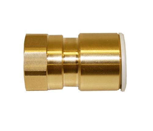Push-fit Brass Female Coupler