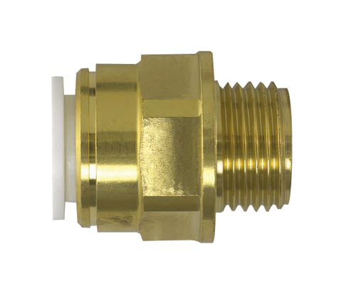 Push-fit Brass Male Coupler