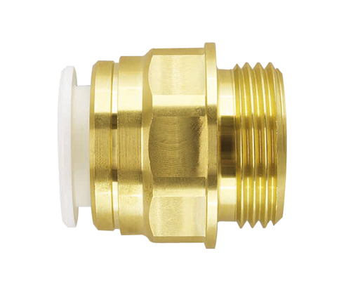 Push-fit Brass Male Cylinder Adaptor