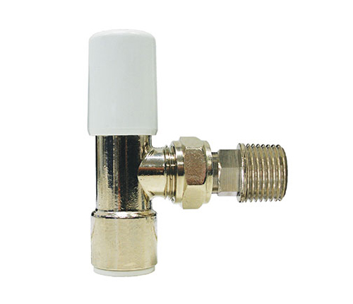 plumbing 10mm Heating Radiator Valve Plated Brass Angled DIY,