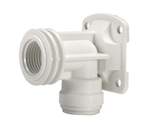 Push-fit Plastic Backplate Elbow