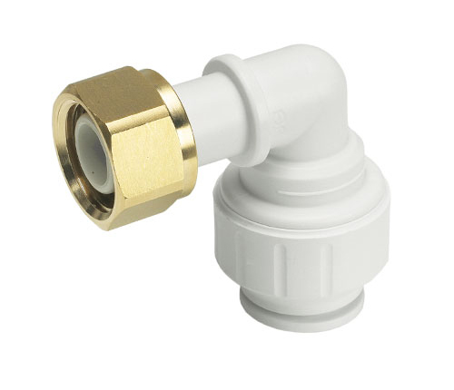 Push-fit Plastic W Bent Tap Connector
