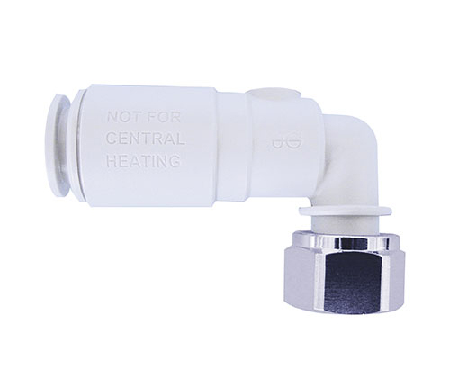 PLASTIC ANGLE SERVICE VALVE WITH TAP CONNECTOR