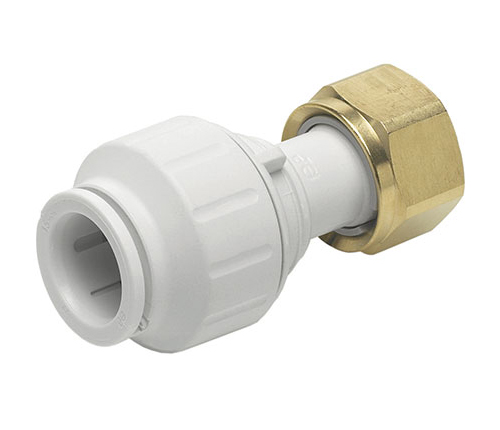 Push-fit Plastic W Straight Tap Connector