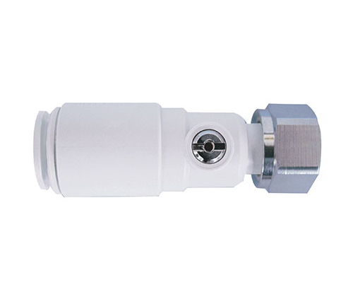PLASTIC SERVICE VALVE WITH TAP CONNECTOR
