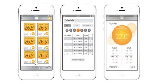 Smart home heating app