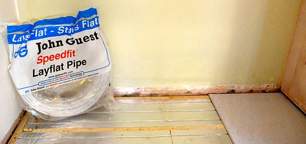 Residential Property Plumbing layflat piping