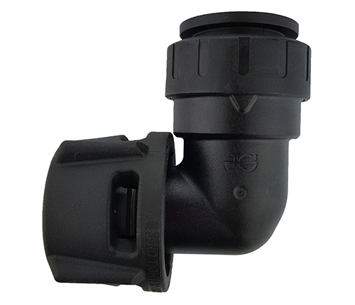 Push-fit Female Elbow Connector - Black