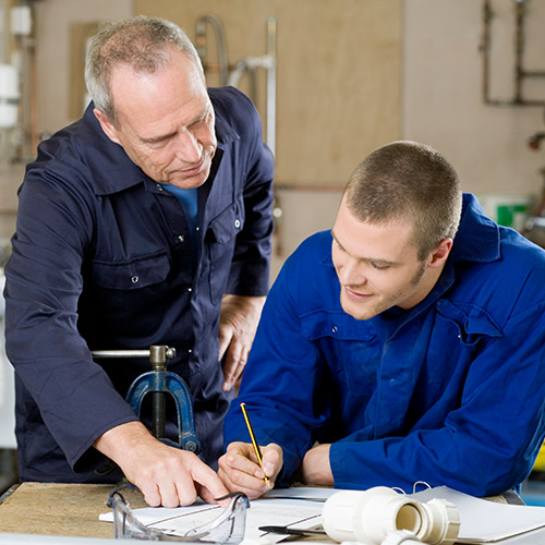 apprentices in plumbing
