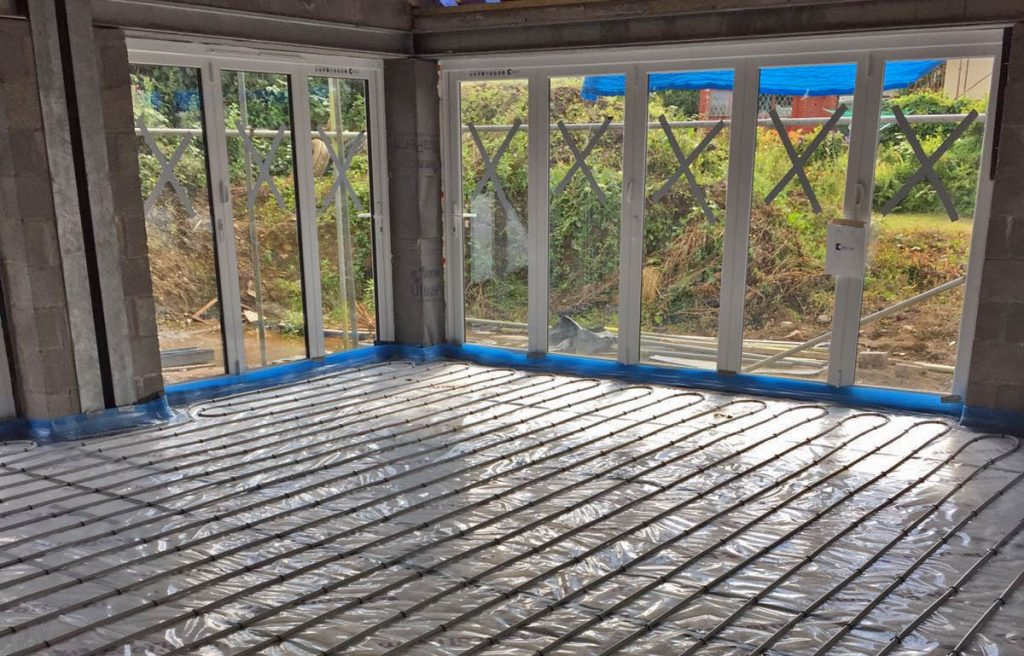 underfloor heating installation project