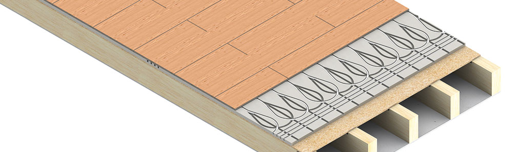 overfit underfloor heating system for existing floors