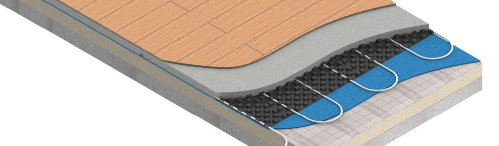 Screed underfloor heating system