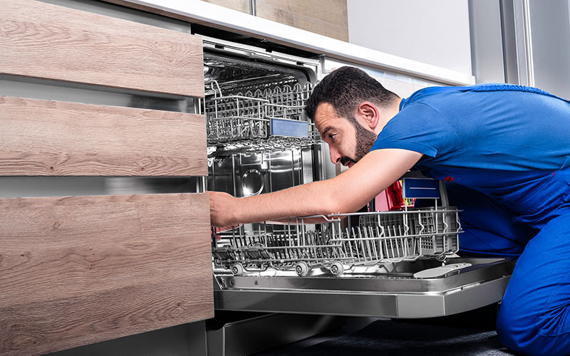 Dishwasher, Repairman, Repairing, Kitchen, Appliance
