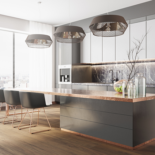 Picture of the large modern luxury kitchen in the city, blog thumb