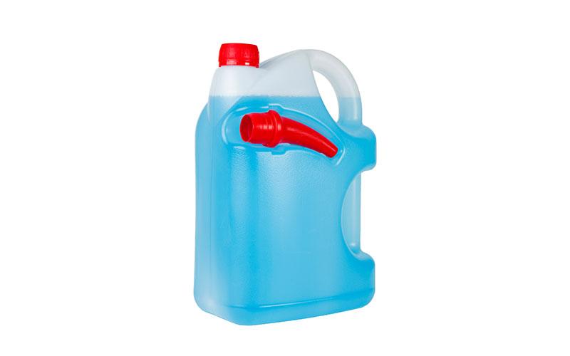 Large bottle of anti-freeze